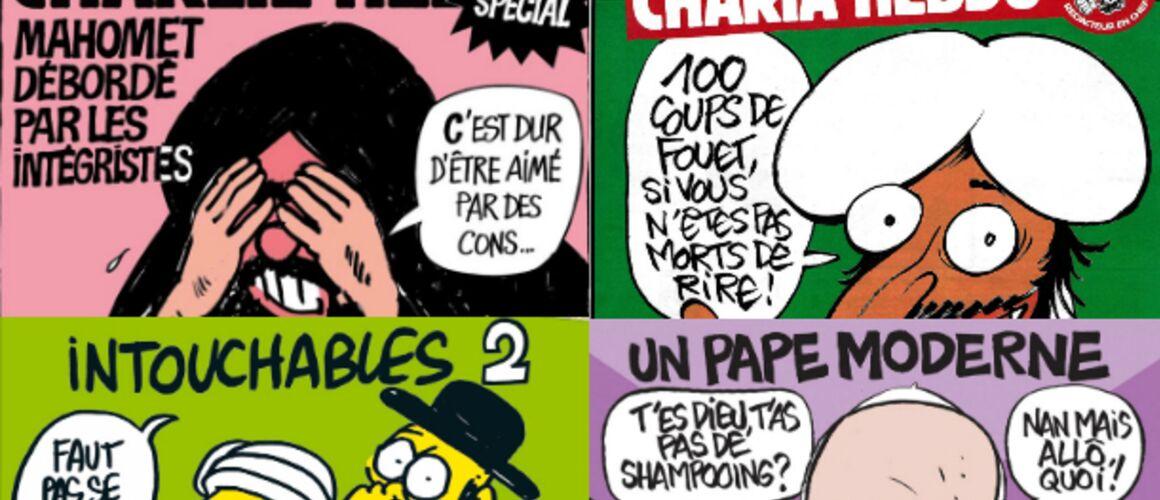 Les Unes Emblematiques De Charlie Hebdo Photos Actu Tele 2 Semaines