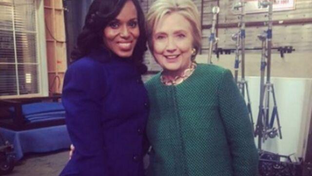 Tournages : quand Hillary Clinton s'invite sur le plateau de Scandal… (PHOTOS)