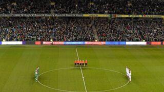 Football : La minute de silence en hommage aux victimes pas respectée pendant Eire-Bosnie (VIDEO)