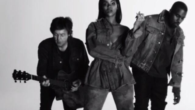 Clip : FourFiveSeconds, le trio de Rihanna, Paul McCartney et Kanye West (VIDEO)