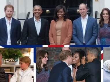 En pyjama, le prince George salue Barack Obama : les images de la visite du président américain à la famille royale