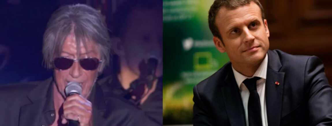 0c483f386f Les Vieilles Canailles : Jacques Dutronc se moque d'Emmanuel Macron, en sa  présence