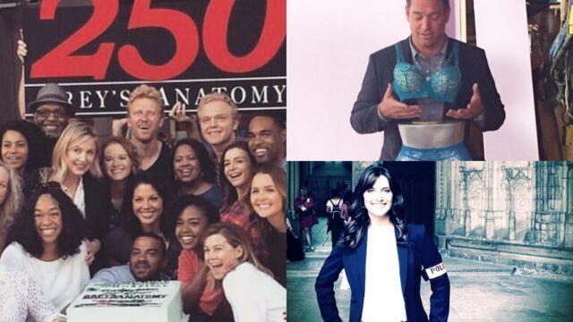 Tournages : le 250e épisode de Grey's Anatomy, les facéties de Michael Weatherly, Laetitia Milot joue les flics… (PHOTOS)