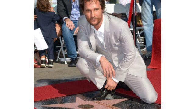 Après Interstellar, Matthew McConaughey touche les étoiles d'Hollywood