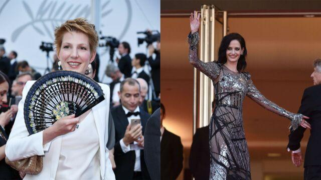 Cannes 2017 : Eva Green reine du tapis rouge, Natacha Polony et son éventail... La montée des marches de D'après une histoire vraie (PHOTOS)