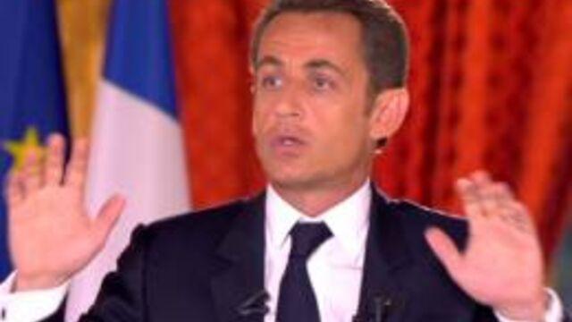 L'intervention du président Sarkozy suivie par plus de 12 millions de téléspectateurs