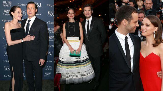 Angelina et Brad, Marion et Guillaume, Natalie et Benjamin... des plateaux de cinéma à la love story (26 PHOTOS)