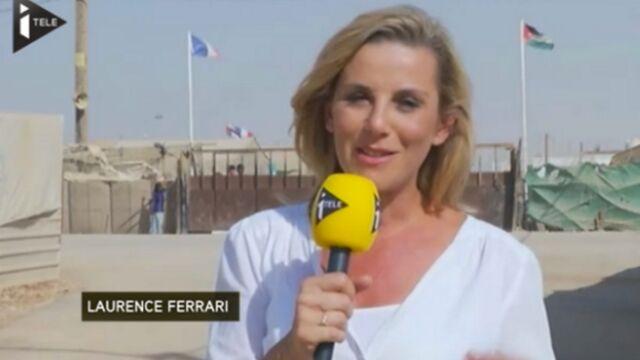 Laurence Ferrari sur le terrain en Jordanie pour iTélé