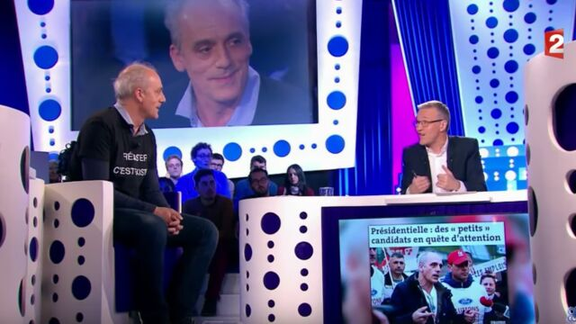 On n'est pas couché : non, Laurent Ruquier n'a pas pas apprécié le clip de campagne de Philippe Poutou