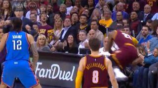 Basket NBA : LeBron James met K.O. la femme du golfeur Jason Day (VIDEO)