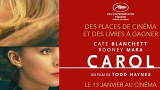 Carol le film : 25 x 2 places de cinéma et 5 livres à gagner (jeu concours)