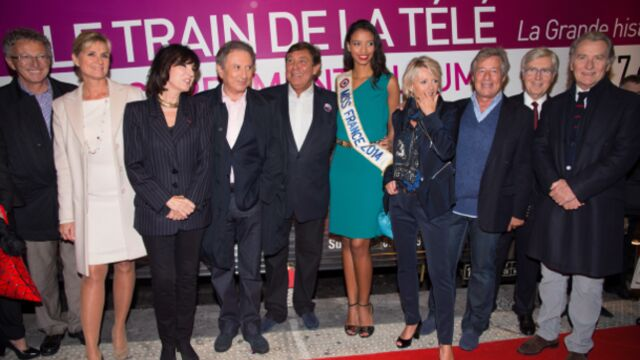 Michel Drucker et Jean-Pierre Foucault inaugurent le Train de la télé (PHOTOS)