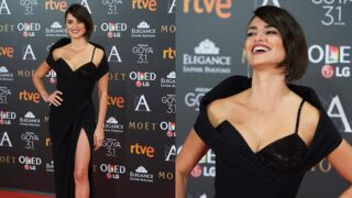 Caliente ! Penélope Cruz, sexy en diable en robe fendue sur le tapis rouge des Goya Awards (8 PHOTOS)