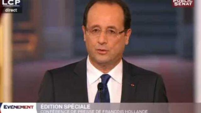 Un score honorable pour la conférence de presse de François Hollande