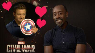 Captain America Civil War : Don Cheadle déclare sa flamme à Jeremy Renner ! (INTERVIEW VIDÉO)