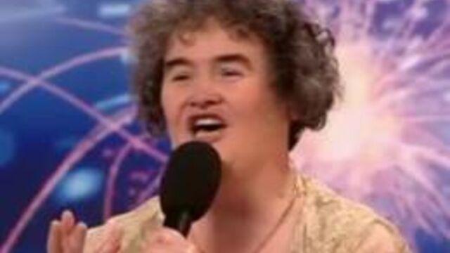 Susan Boyle pose un lapin à Incroyable Talent