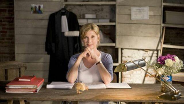 Michèle Laroque en tournage pour France 2