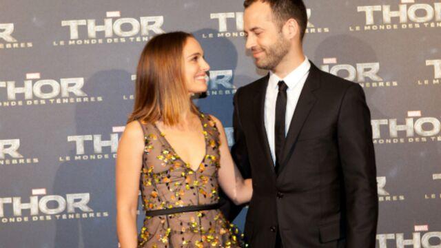 Natalie Portman et Benjamin Millepied très amoureux à l'avant-première de Thor 2