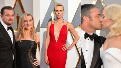 Oscars 2016 : Leonardo DiCaprio et Kate Winslet complices, Lady Gaga amoureuse, Charlize Theron sexy (52 PHOTOS)