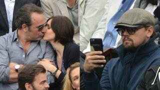 Jean Dujardin et Nathalie Péchalat très complices, Leonardo DiCaprio quasi incognito... Pluie de stars à Roland-Garros ! (28 PHOTOS)