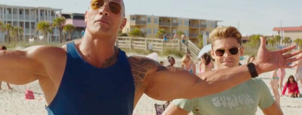 7aff8a5473 Baywatch - Alerte à Malibu : Dwayne Johnson et Zac Efron se la racontent  sur la plage dans la bande-annonce (VIDEO) - cinema - Télé 2 semaines