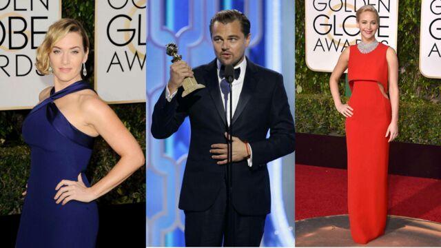 Golden Globes : Kate Winslet et Jennifer Lawrence glamour sur le tapis rouge, DiCaprio rafle tout ! (64 PHOTOS)