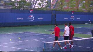 A l'US Open, Gaël Monfils improvise une partie de... pétanque ! (VIDEO)