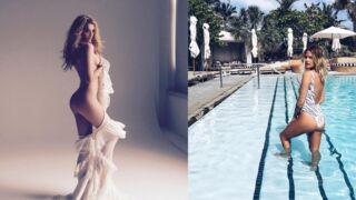 Instagram : le shooting dénudé de la top-model Lily Donaldson, Caroline Receveur à la piscine... (38 PHOTOS)