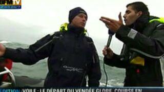 Un cadreur de BFM TV vomit en direct sur un bâteau du Vendée Globe (VIDEO)