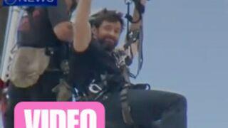 Hugh Jackman se blesse pendant un tournage (VIDEO)