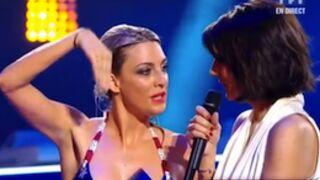 Splash : Eve Angeli laisse échapper un bout de sein ! (VIDEO)