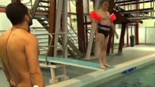 Splash : les premiers plongeons (ratés) des candidats (vidéo)