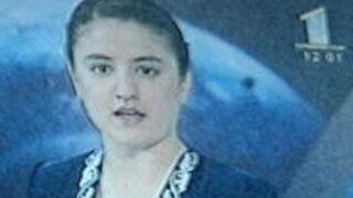A 16 ans, la fille du président tadjik présente le journal