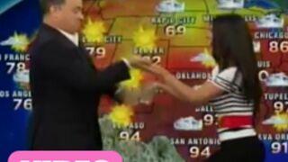 Tom Hanks se lâche avec une présentatrice météo ! (VIDEO)