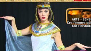 Quand la Speakerine se prend pour Cléopâtre... Impressionnant ! (VIDEO)