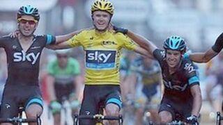 Chris Froome (Sky) remporte le Tour de France