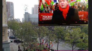 Polémique : Le duplex de Jean-Luc Mélenchon sur TF1 était-il mis en scène ?