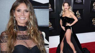 Grammy Awards 2018 : Heidi Klum tout en dentelles, Rita Ora frôle l'accident de culotte (PHOTOS)