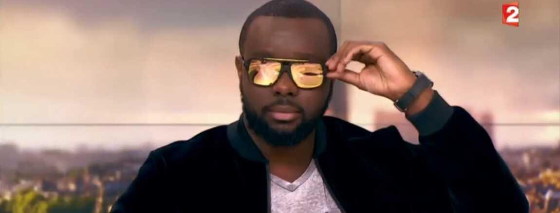d9b8f7ab45886 Maître Gims enlève ses lunettes dans le JT de Laurent Delahousse... Le  Zapping people (VIDEO)