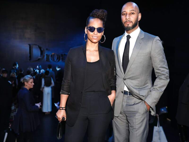 Très classes : la chanteuse Alicia Keys et son mari Swizz Beatz.