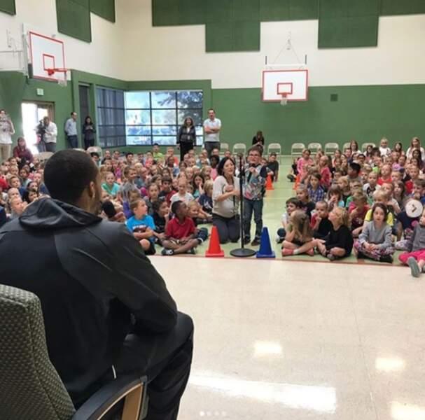 Rudy aime partager son expérience avec les écoliers