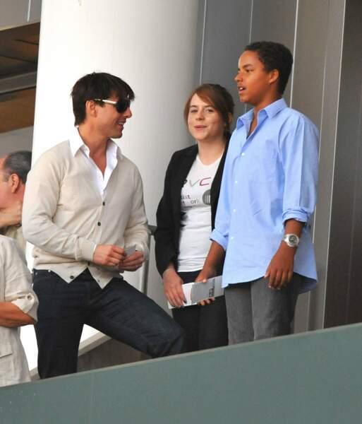 Tom Cruise : Isabella (née en 1992) et Connor (né en 1995) avec leur père en 2008.