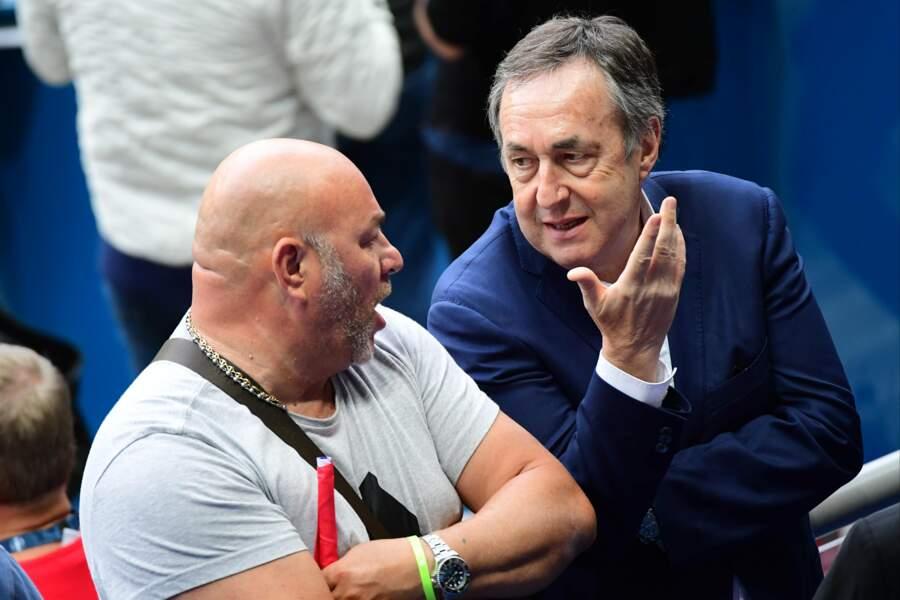 Le célèbre agent de joueur, Jean-Pierre Bernès, en pleine discussion avec le papa de Gignac
