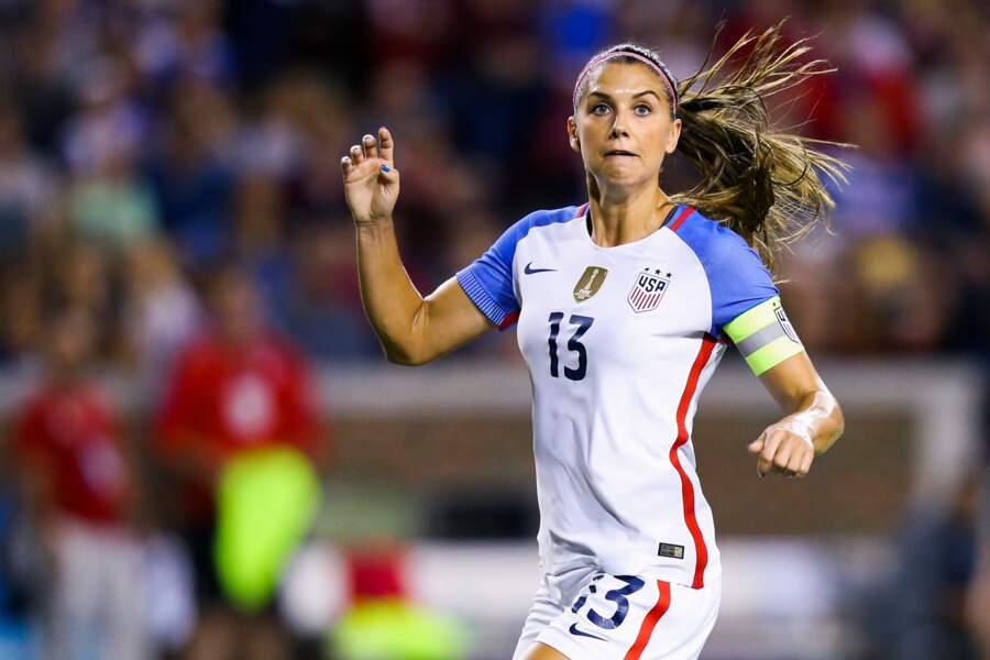 L'Américaine Alex Morgan, LA star planétaire du football féminin