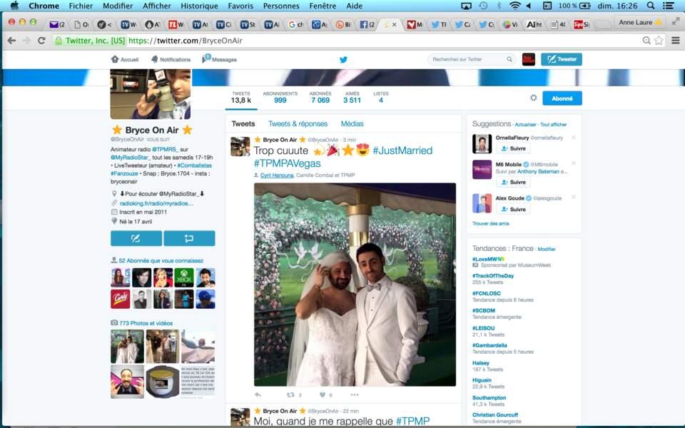 Tout de blanc vêtus, Cyril Hanouna et Camille Combal just married à Las Vegas !