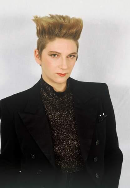 Dans les années 80, Desireless est en costume noir semi new-wave et a les cheveux en brosse extravagant.
