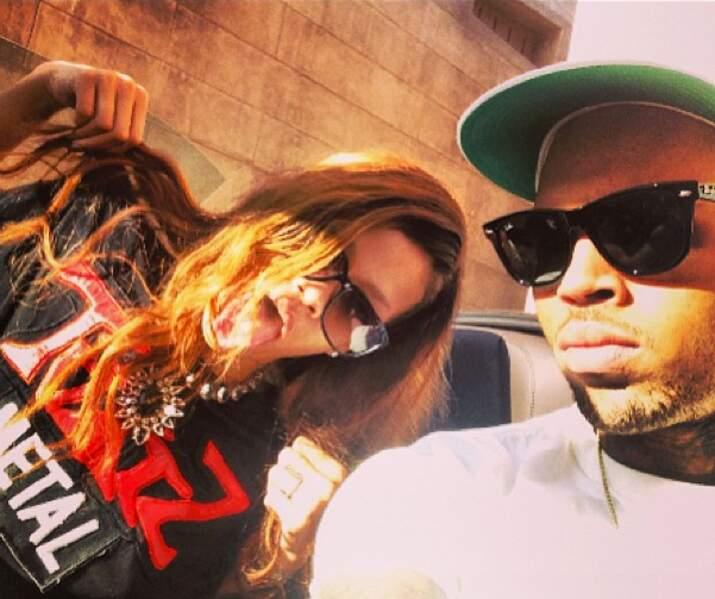 Rihanna resplendissante aux côtés de son Chris
