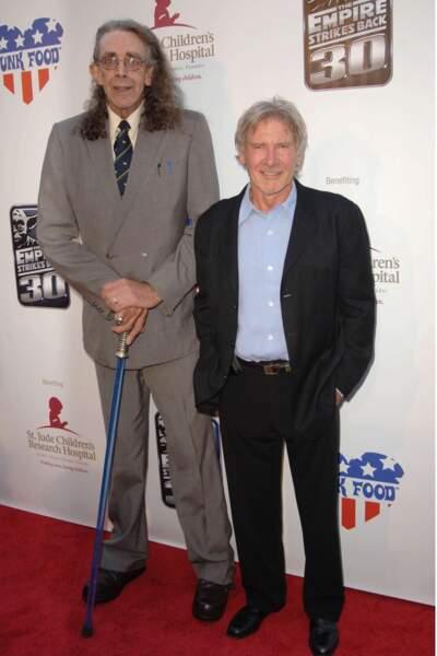 Non non, Harrison Ford n'est pas petit, ou seulement à côté de Peter et ses quelques 2,20 mètres !