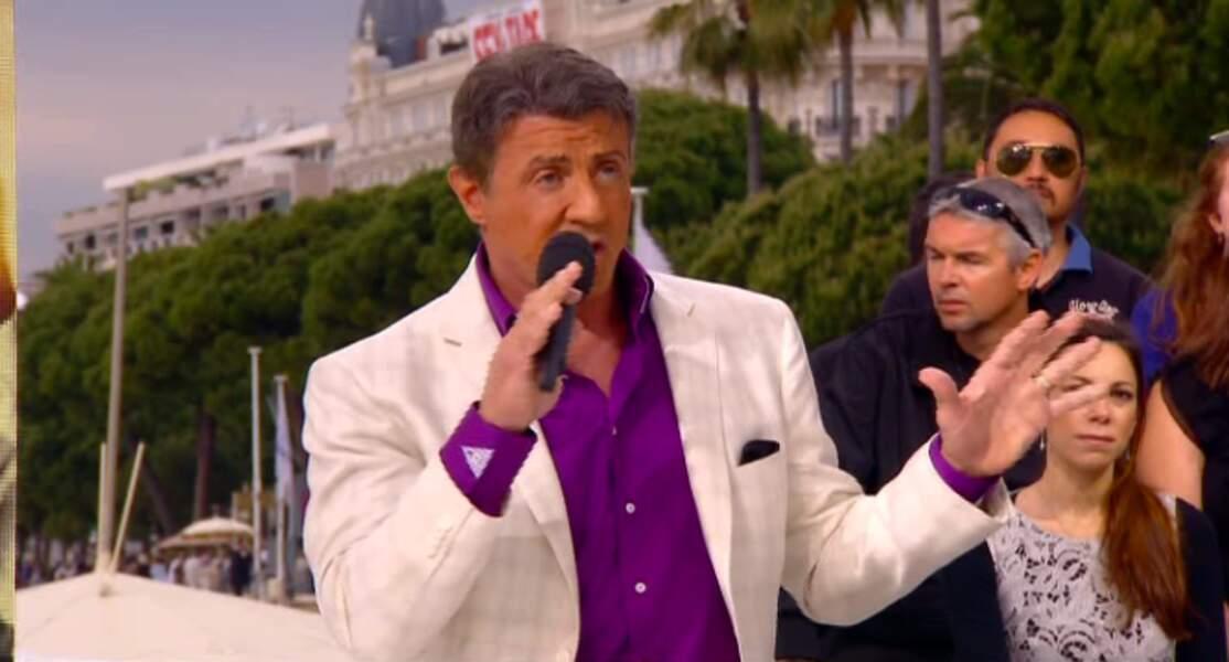 """Dans la catégorie """"j'aime les couleurs"""" : Sylvester Stallone, bicolore"""