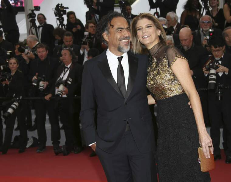Le président du jury Alejandro Gonzalez Inarritu et sa femme Maria Eladia Hagerman